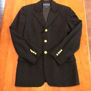 Ralph Ralph Lauren Navy Wool Blazer Gold Buttons